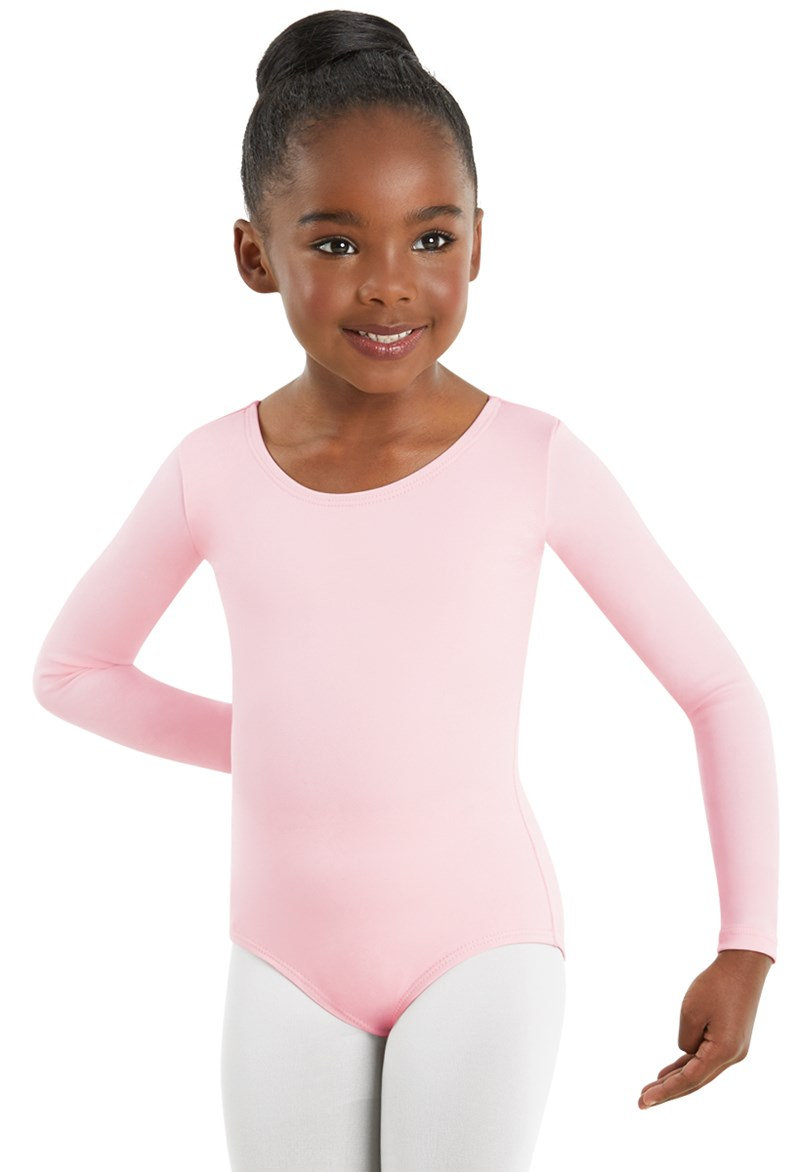 4a6bef14d Girls  Long Sleeve Scoop Neck Leotard