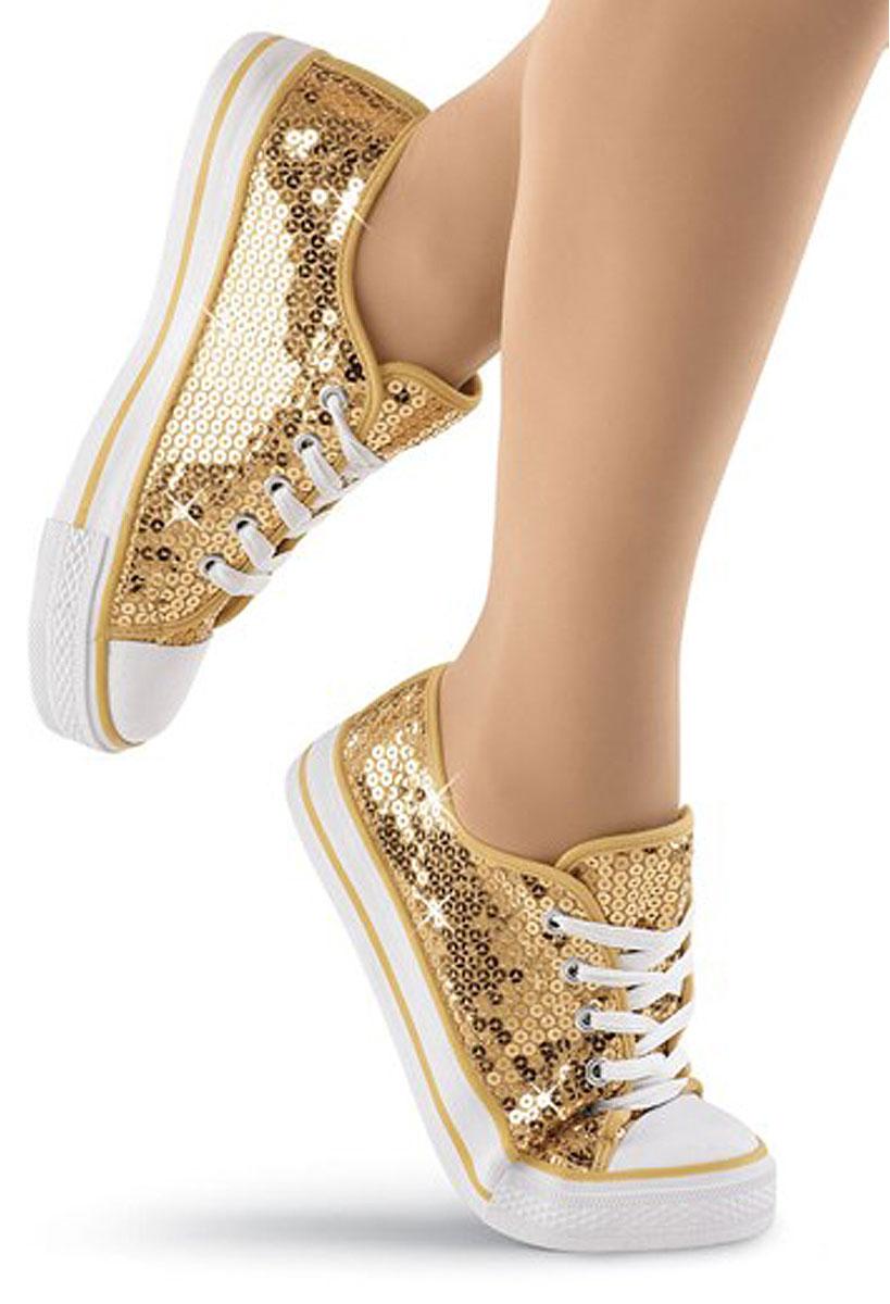 Sequin Low Top Dance Sneakers   Balera™
