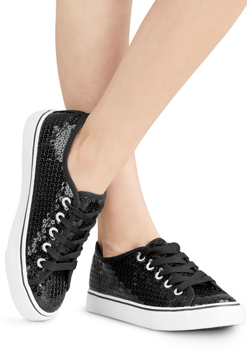 14885d7ac093e Sequin Low-Top Hip-Hop Dance Sneakers | Balera™