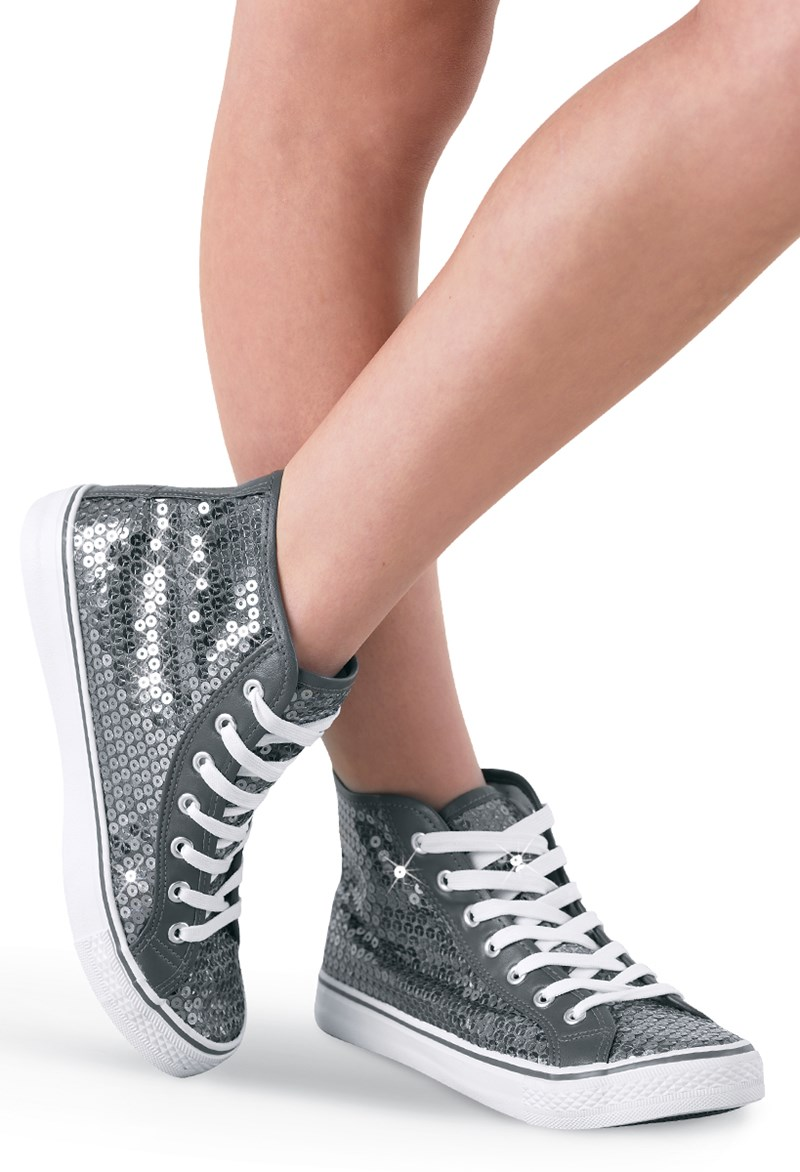 bb45689138a92 Sequin High-Top Hip-Hop Dance Sneakers | Balera™