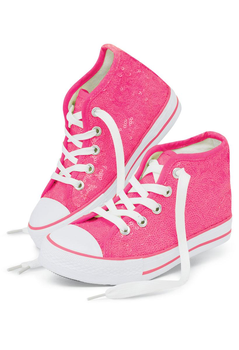 Neon Sequin High Top Sneakers | Balera™